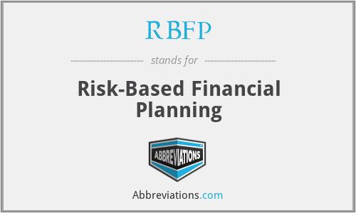 RBFP - Risk-Based Financial Planning