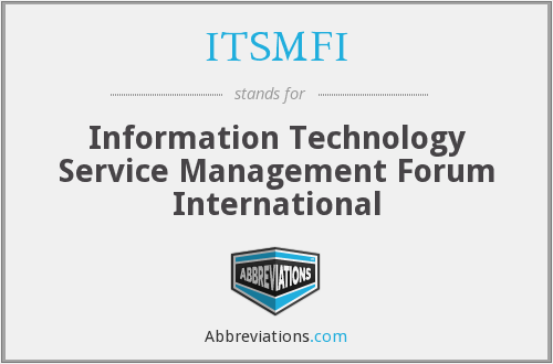 What does ITSMFI stand for?