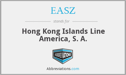 EASZ - Hong Kong Islands Line America, S. A.