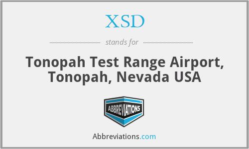 XSD - Tonopah Test Range Airport, Tonopah, Nevada USA