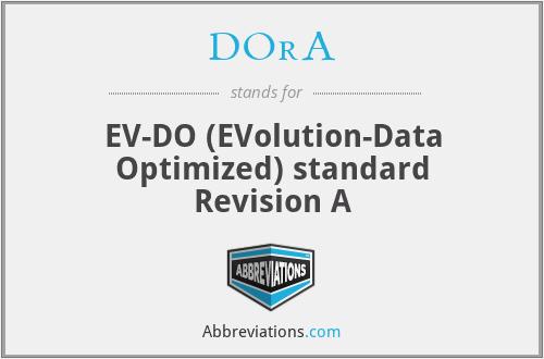 DOrA - EV-DO (EVolution-Data Optimized) standard Revision A