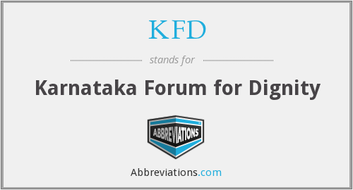 KFD - Karnataka Forum for Dignity