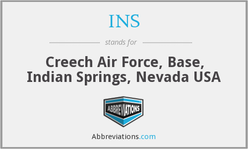 INS - Creech Air Force, Base, Indian Springs, Nevada USA