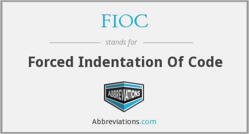 What does indentation stand for?