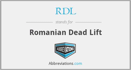 RDL - Romanian Dead Lift