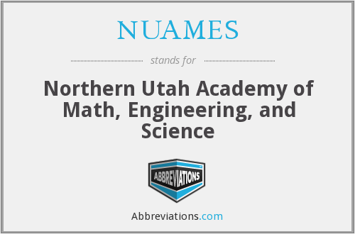What does NUAMES stand for?