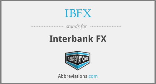 IBFX - Interbank FX