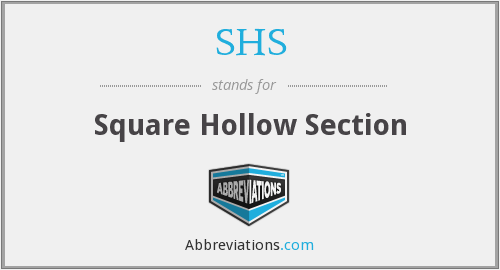 SHS - Square Hollow Section