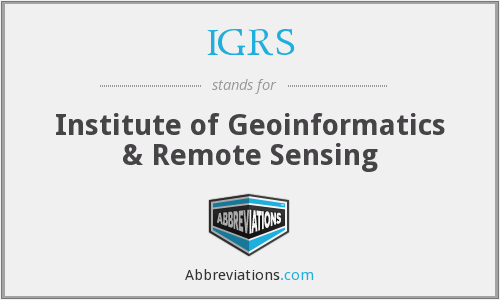 IGRS - Institute of Geoinformatics & Remote Sensing