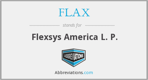 What does FLAX stand for?