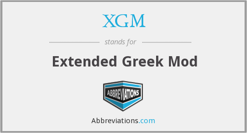 What does XGM stand for?
