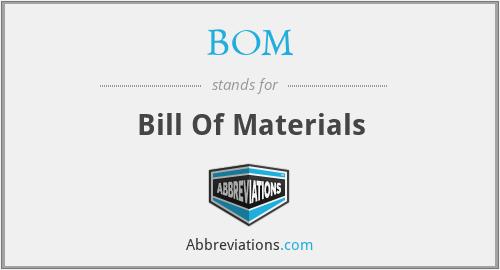 BOM - Bill Of Materials