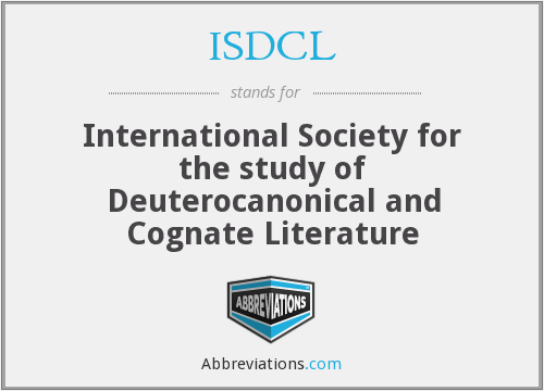 ISDCL - International Society for the study of Deuterocanonical and Cognate Literature