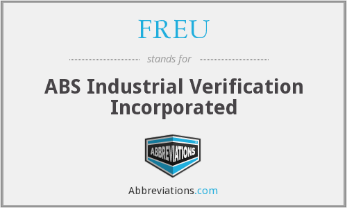 FREU - ABS Industrial Verification Incorporated