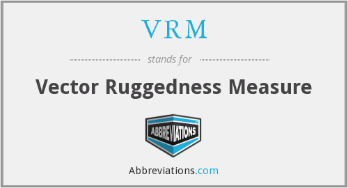 VRM - Vector Ruggedness Measure