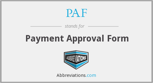 What does PAF stand for?