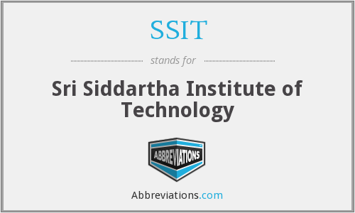 SSIT - Sri Siddartha Institute of Technology