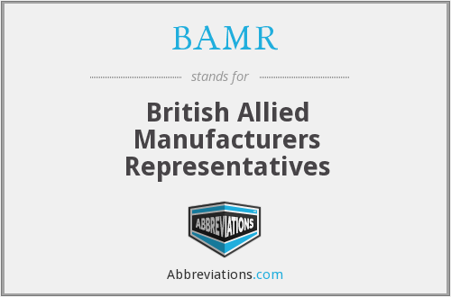 BAMR - British Allied Manufacturers Representatives