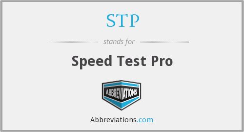 STP - Speed Test Pro
