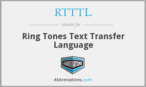 What does RTTTL stand for?
