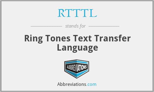 RTTTL - Ring Tones Text Transfer Language