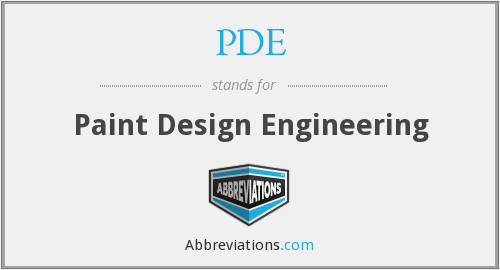 PDE - Paint Design Engineering