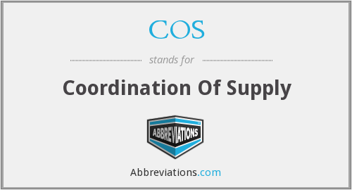 COS - Coordination Of Supply
