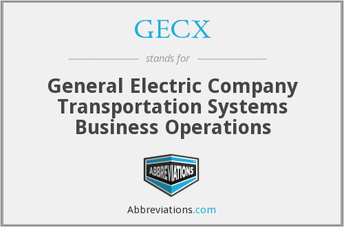What does GECX stand for?