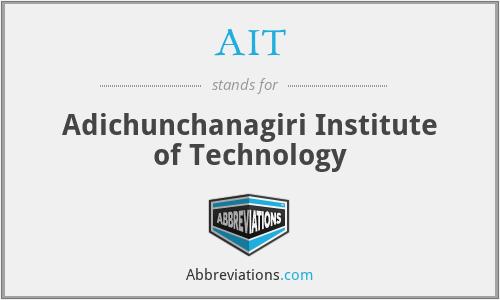 AIT - Adichunchanagiri Institute of Technology