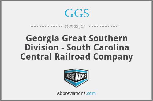 GGS - Georgia Great Southern Division - South Carolina Central Railroad Company