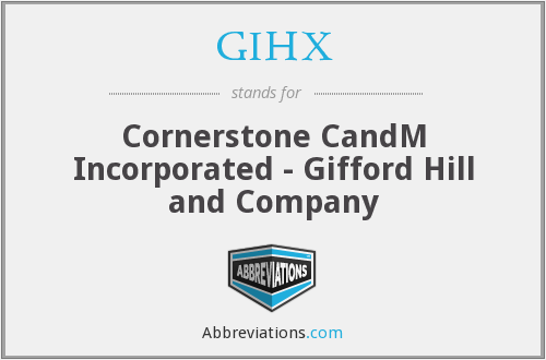 What does GIHX stand for?