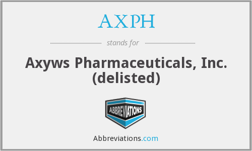 AXPH - Axyws Pharmaceuticals, Inc. (delisted)
