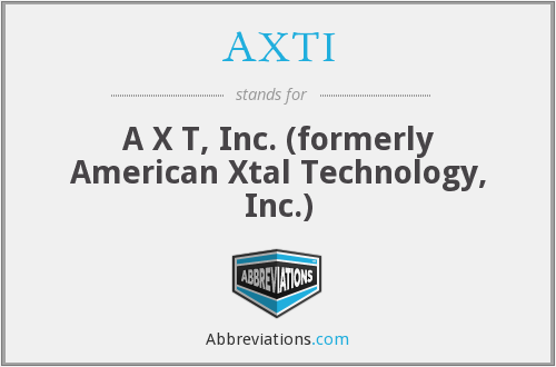 AXTI - A X T, Inc. (formerly American Xtal Technology, Inc.)