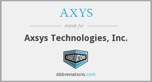 AXYS - Axsys Technologies, Inc.