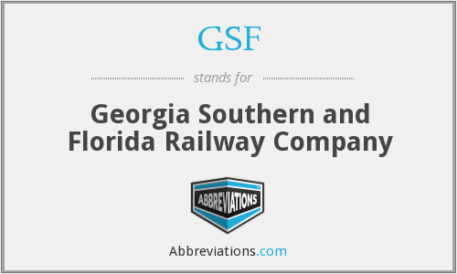 GSF - Georgia Southern and Florida Railway Company