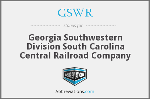 GSWR - Georgia Southwestern Division South Carolina Central Railroad Company