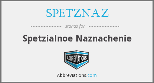 What does SPETZNAZ stand for?