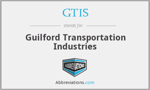 GTIS - Guilford Transportation Industries