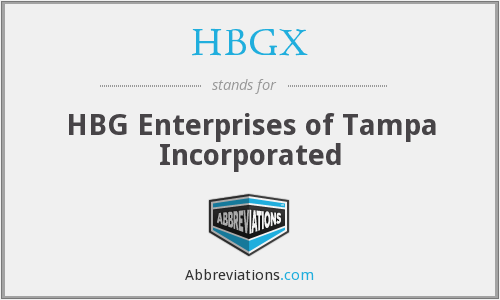 HBGX - HBG Enterprises of Tampa Incorporated