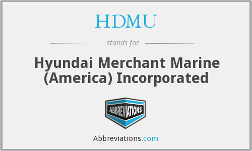 What does HDMU stand for?