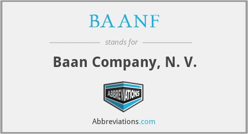 BAANF - Baan Company, N. V.