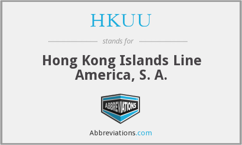 HKUU - Hong Kong Islands Line America, S. A.
