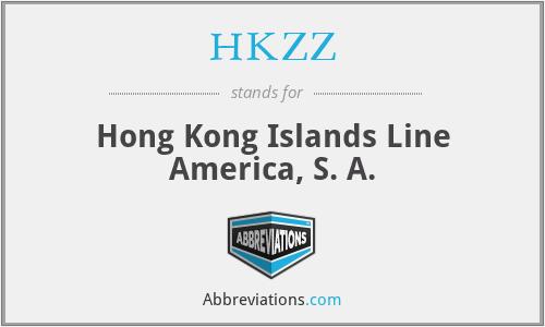 HKZZ - Hong Kong Islands Line America, S. A.