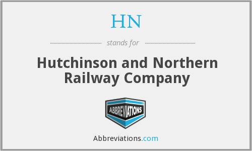 HN - Hutchinson and Northern Railway Company