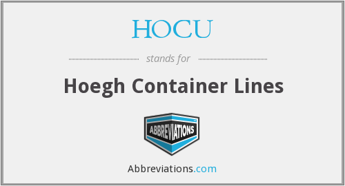 HOCU - Hoegh Container Lines