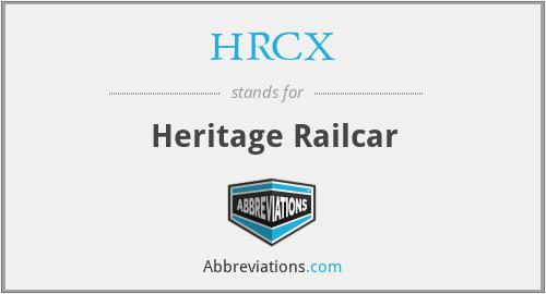 HRCX - Heritage Railcar
