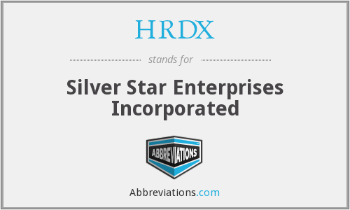 HRDX - Silver Star Enterprises Incorporated