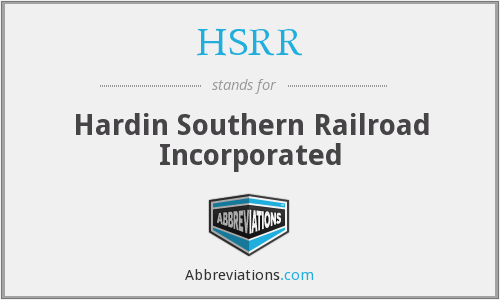 HSRR - Hardin Southern Railroad Incorporated