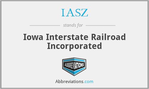 IASZ - Iowa Interstate Railroad Incorporated
