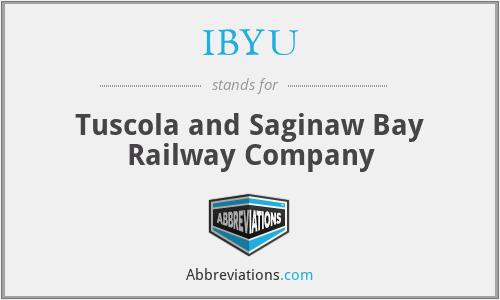 IBYU - Tuscola and Saginaw Bay Railway Company
